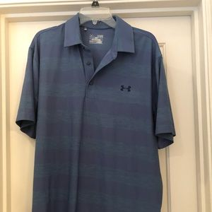 NWOT ✨ Blue Under Armour Polo with Large Stripes